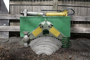 Greenlee 884 885 Hydraulic Rigid Pipe Bender 1 1 4 To 5 Inch