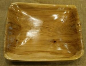 Handmade Wooden Bowl Made By Jw S Light Brown Color Box Elder And 13 3 4 X 12