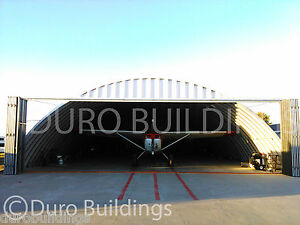 Durospan Steel 50x70x17 Metal Building Airplane Hanger Open Ends Factory Direct