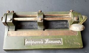 Vintage wilson jones co improved hummer 3 hole punch adjustable cast Iron