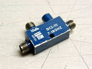Dcs 111 Rf Microwave Directional Coupler 10db 7 18ghz Sma