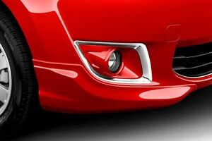 2015 Mitsubishi Mirage Front Bumper Extensions Color Matched Infra Red Shown