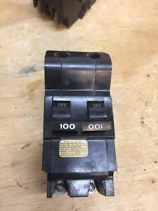 100 Amp Federal Pacific Fpe Bolt On 2 Pole Type Main Breaker