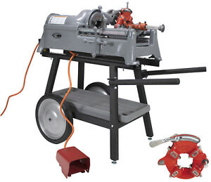 Reconditioned Ridgid 535 V1 Pipe Threader With Cart Extra Die Head