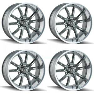 4 new 18 Ridler 650 Wheels 18x9 5 5x114 3 0 Gunmetal Rims