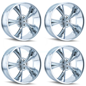 4 new 18 Ridler 695 Wheels 18x8 5x114 3 0 Chrome Rims