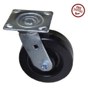 Colson Swivel Plate Caster 6 X 2 Phenolic Wheel And Square Plate