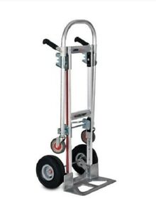 Magliner Gemini Convertible jr 18 Nose 10 Air Tire Hand Truck 2 to 4 Wheel