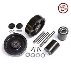 Atlas Zenith Type 9 Pallet Jack Wheel Kit Complete Includes All Parts Shown