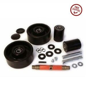Jet j Models Pallet Jack Wheel Kit complete includes All Parts Shown