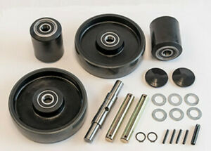 Crown Pth50 Pallet Jack Wheel Kit complete includes All Parts Shown