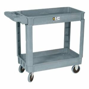 Molded Plastic Utility Cart Dollie 5 Tpr Hard Wheel 330 Total Cap W 16 x30