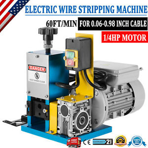 Portable Powered Electric Wire Stripping Machine Comercial 1 4hp Cable Stripper