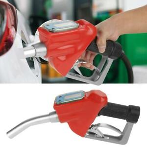 Digital Fuel Oil Diesel Gasoline Nozzle Gun Fueling Nozzle With Flow Meter Stw
