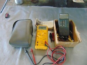 Fluke Multimeter temp Meter No 21 And 572