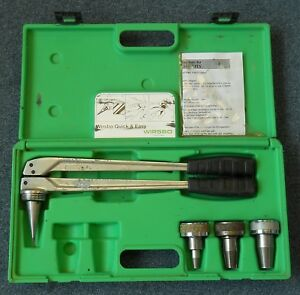 Wirsbo Pro Pex Hand Expander Tool With 1 2 3 4 1 Heads q6295075 With Case