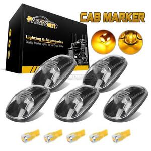 5pc Clear Cab Marker Light Lens 194 5730 Amber Led For Dodge Ram 2500 3500 99 02