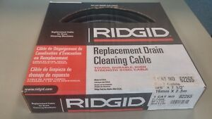 Ridgid 62265 C7 5 8 X 7 1 2 Tight Wind Drain Cleaning Cable new In Box