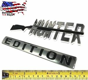 Hunter Edition Car Truck Willys Hummer Logo Studebaker Suv Sign Bumper Badge