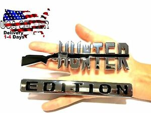 Hunter Edition Emblem Tailgate Jeep Truck Logo Decal Car Sign Door Badge