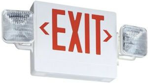 Lithonia Lighting Integrated Led Emergency Exit Sign fixture Commercial White