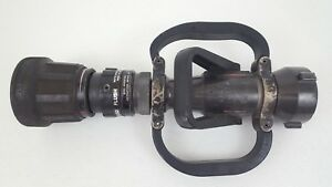 2 5 Nh Akron Turbojet Axial Playpipe Nozzle Shutoff Firefighters 250gpm