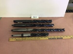 Taper Shank Drills 1 Dia And Larger Lot Of 4 Pcs Long Length Reduced