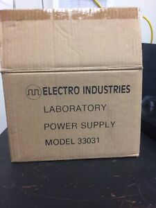 Electro Industries central Scientific Low Volt Ac dc Power Supply Model 33031