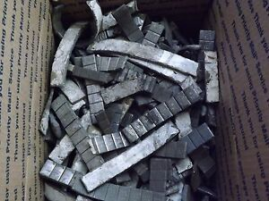 40+# Used Lead Stick-On Wheel Weights 40+ lbs. Box Hand Sorted All Lead