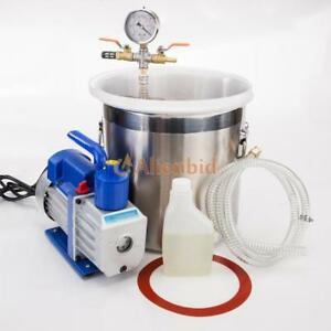 3 Gallon Vacuum Chamber And 3cfm 1 4hp Single Stage Pump To Degassing Silicone