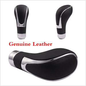 Real Leather Car Gear Shift Knob Shifter Lever For Manual Automatic Transmission