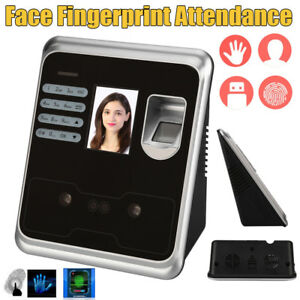 2 4 Biometric Face Reader Access Control Time Scanner Attendance Machine System