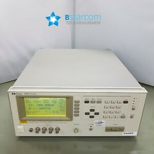 Hp 4285a Precision Lcr Meter 75 Khz To 30 Mhz opt 001