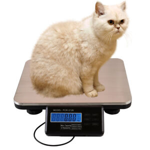 300kg Lcd Digital Commercial Platform Scales Weight Food Kitchen Postal Pet Dog