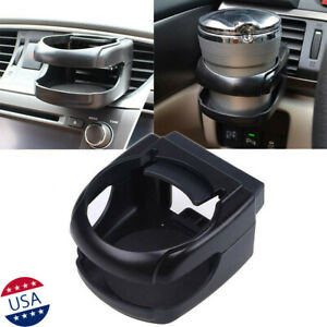Black Car Abs Air Vent Cup Bottle Holder Drink Beverage Adjustable Universal Kit