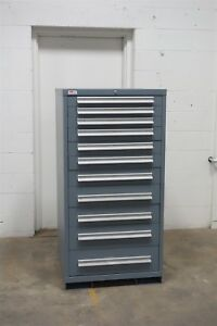 Used Lyon 11 Drawer Cabinet Industrial Tool Parts Storage Box 1485 Vidmar