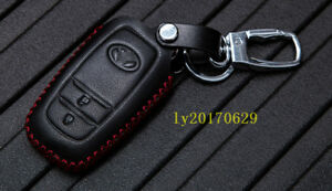 Leather Remote Control Key Bag Shell Case Cover For Toyota Highlander 2015 2018