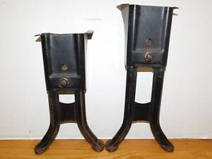 Antique Adjustable Steel Metal Industrial Desk Table Base Legs