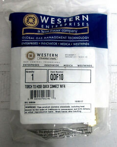 Western Enterprises Qdf10 Torch To Hose Quick Connect W fa New