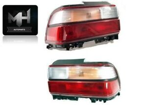 For Toyota Corolla 93 97 Tail Lights Clear And Red Rear 1993 1997