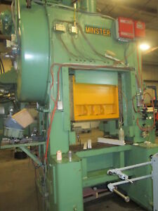 Minster P2 75 36 Straight Side Stamping Press W 2 5 Stroke 2 Slide Adjust