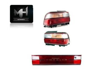Fits Toyota Corolla 93 97 Tail And Trunk Lights Clear And Red Rear 1993 1997