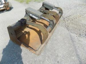 2014 Bobcat 74 2 Cylinder Grapple Bucket For Skid Steer Loaders Quick Attach