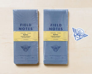 Field Notes Lot 2 Byline Reporter s Notebooks Sticker Subscriber