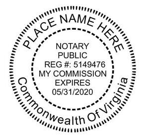 Insert Custom Round Self inking Notary Seal Rubber Stamp Rubber Part Only