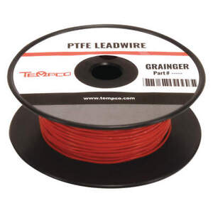 Tempco High Temp Lead Wire 18 Ga red Ldwr 1053