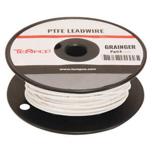 Tempco High Temp Lead Wire 16 Ga white Ldwr 1057