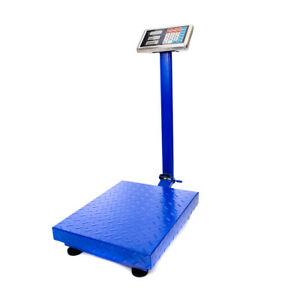 600 Lb Weight Computing Scale Digital Floor Platform Warehouse Shipping Postal