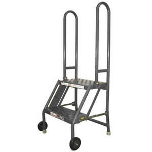 Tri arc Steel Tilt And Roll Ladder platfm 20 In H Kdmf102166 Gray