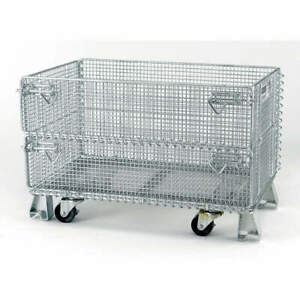 Nashville Wir Steel Wire Mesh Collapsible Container 20 In L silver Jr5c Silver